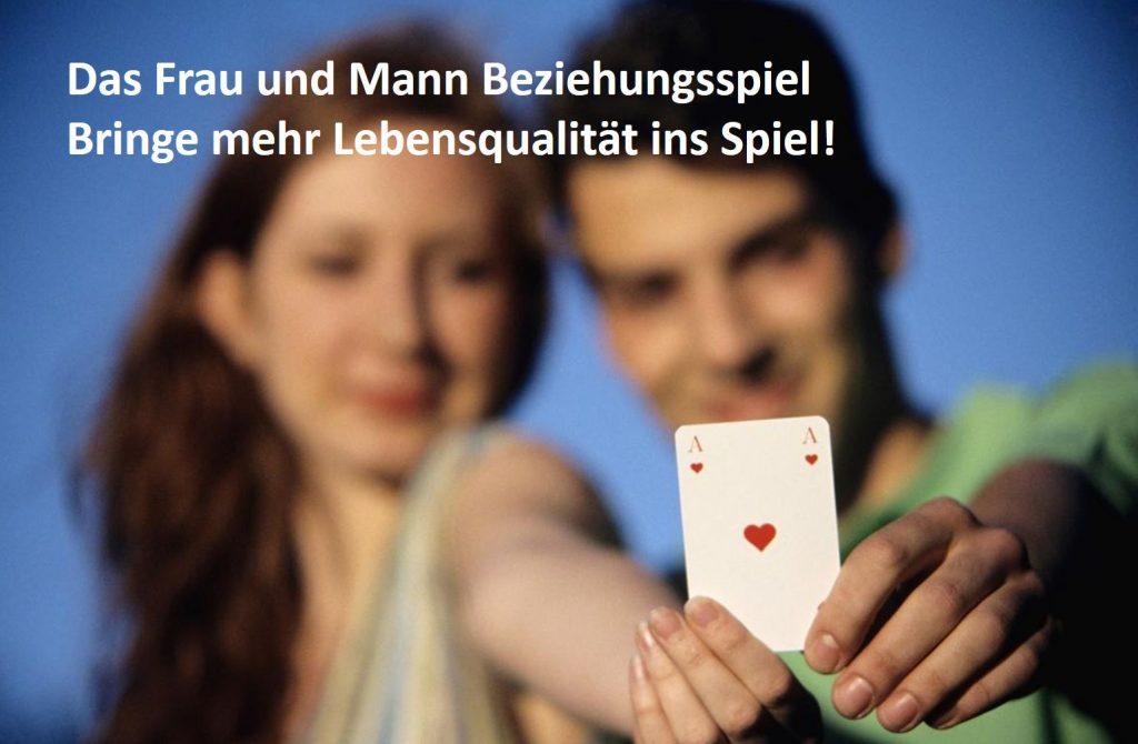 Beziehungsspiel Frau und Mann